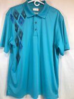 Ben Hogan Men's Golf Polo Short Sleeve Shirt Sz XL Blue EUC Soft And Lightweight