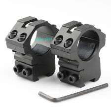 """Scope Rings 1"""" Diameter For 22 cal /Air Rifle 3/8 Inch Dovetail Mount Rail 11mm"""