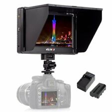7'' Viltrox HDMI AV LCD Video Monitor for Canon Nikon Olympus +Battery +Charger