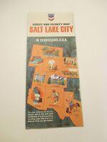 Vintage 1966 CHEVRON Salt Lake City Utah Oil Gas Service Station Road Map