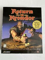 RETURN TO KRONDOR ORIGINAL BIG BOX+ Strategy Guide Book*Computer Role Playing G*