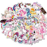 100 Unicorn Stickers Skateboard Guitar Travel Case sticker pack Vinyl Decals Mix
