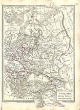RUSSIE RUSSIA EMPIRE TURKEY TURQUIE OTTOMAN GREECE GRECE  MAP CARTE ATLAS 1870