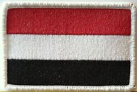 YEMEN Flag Patch Military Patch With VELCRO® Brand Fastener White Emblem #15