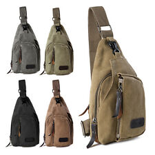 Mens Tactical Chest Bag Sling Crossbody Backpack Shoulder Pack Hiking Travel