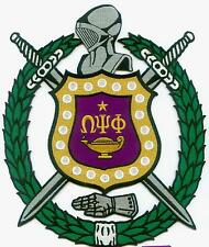 f9d46ffb2cf OMEGA PSI PHI Embroidery SHIELD   CREST Patch ( 10 1 2