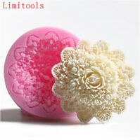 3D Lace Flower Silicone Fondant Mold Cake Decor Sugarcraft Baking Mould DIY Tool