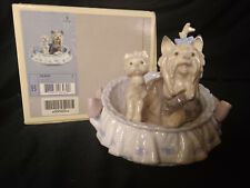 Retired Lladro Porcelain Yorkshire Our Cozy Home #06469 , New Open Box