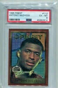 1995 Topps Finest - ANTONIO McDYESS - Rookie Card #112 - NUGGETS  PSA 6