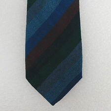 Afonwen Welsh wool tie Traditional mens style North Wales Woollen Mills striped