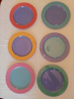 Lindt Stymeist Set Of SIX (6) Colorways Dinner Plates 11 inch