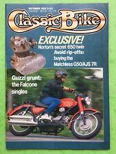 CLASSIC BIKE - September 1988 - 750cc BMW R12 - 500cc Matchless G50