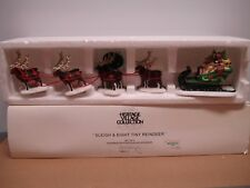 """Department 56 Heritage Village Collection """"Sleigh & Eight Tiny Reindeer"""""""