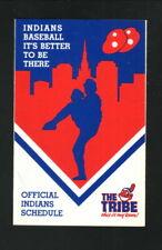 Cleveland Indians--1988 Pocket Schedule--Mr Hero