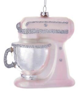 Kurt Adler Kitchen Mixer Ornament Glass 4.25 Inches Pink