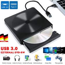 Externes DVD Laufwerk USB 3.0 Brenner Slim CD DVD-RW Brenner für PC Laptop DHL