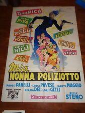 manifesto,Mia nonna Poliziotto STENO,TINA PICA,UGO TOGNAZZI,MARIO RIVA,BALLESTER