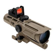 NcStar Gen3 Fde Uss 3-9X40 Ill P4 Sniper Red Dot Qr Weaver/Picatinny Rifle Scope