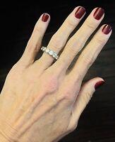 Platinum 5.00 CTW Diamond 14-stone Eternity Band  Ring Size 5.5