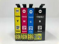 Remanufactured 4 Ink Cartridge 702 T702 XL for Epson WorkForce Pro WF-3720 3730