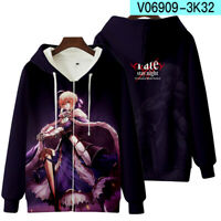 Fate/stay night Cosplay Sweatshirts Unisex Casual Long Sleeve Coat Anime #122