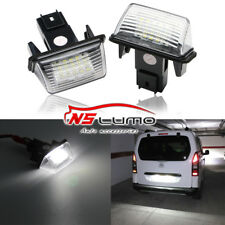 2x Caliente 18led Luz Matrícula for PEUGEOT 206/207/307/308 CITROEN C3/C4/