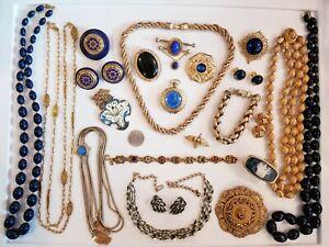 Vintage Mod Jewelry LOT Sandor Accessocraft Emmons Monet Max Factor Trifari+