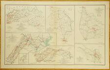 AUTHENTIC CIVIL WAR MAP ~ VIRGINIA - MARYLAND - PENNSYLVANIA - 1864
