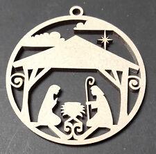 Natividad Adorno Paquete de 4 Modelo De Forma Artesanal Mdf Árbol De Navidad Decoración