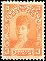 1897-1901 Canada Mint H Newfoundland 3c VF Scott #83  Stamp