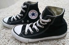 Converse Youth Kids Black Chuck Taylor All Star High Top Shoes Sz 12 Boys Girl