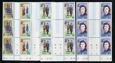 Nevis 423-426 MNH Girl Guides 75th Ann 1985 Troop Uniforms Gutter Pair x28152
