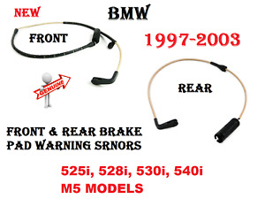 Front & Rear Brake Pad Wear Sensors For BMW E39 525i 528i 530i 540i M5 GENUINE