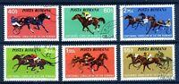 RUMANIA / ROMANIA / ROUMANIE año 1974 yvert nr.2828/33 usada carrera de caballos