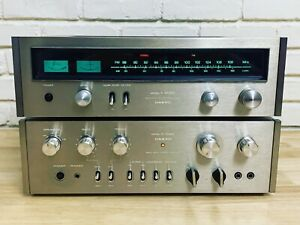 Vintage Onkyo A-7022 Amplifier & T-4055 Stereo Tuner (serviced)