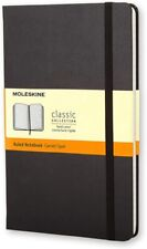 Moleskine A5 Classic Notebook - Hard Cover with Elastic Closure - Black Cover