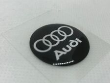 2 pcs. Audi logo badge sticker. 30mm. Domed 3D Stickers/Decals.