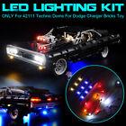 For Dodge Charger Bricks USB LED Light Lighting Kit For 42111 Technic Doms