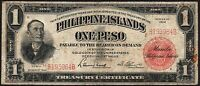 1924 Philippines 1 Peso Banknote * B 193964 B * VG * P-56 * Charles A. Conant *