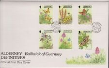 GB ALDERNEY 1994 Flora & Fauna Definitives 4p-40p SG A63/74 FDC INSECTS FLOWERS