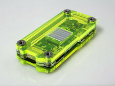 Zebra Zero Laser Lime Case for R Pi Zero & Zero Wireless, w/ Heatsinks ~ C4Labs