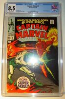 Captain Marvel #2 CGC 8.5 VF+ 1968, Silver Age, Super-Skrull app. Gene Colan c/a