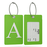 Shacke Luggage Tag Initial – Fully Bendable Tag w/Stainless Steel Loop