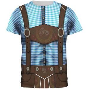 Oktoberfest Lederhosen Drinking Champion Costume All Over Mens T Shirt
