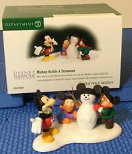 Dept 56 North Pole Series Mickey Builds a Snowman 56849 NEW
