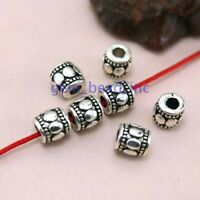 50Pcs Tibetan Silver Metal Spacer beads For DIY Jewelry Making Bracelet Supplies
