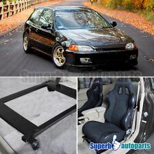 92-95 For Honda Civic Racing Seat Mounting Brackets Rail Tensile Steel Bucket
