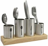 Sorbus Silverware Holder with Caddy for Spoons, Knives Forks- Stainless Steel