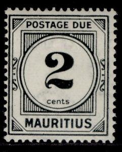 MAURITIUS GV SG D1, 2c black, M MINT.