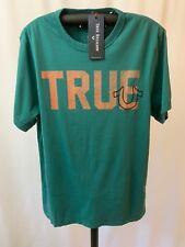 True Religion Men's Slogan Tee Shirt Top, Dark Agave, Size XXXL, NWT ($69)